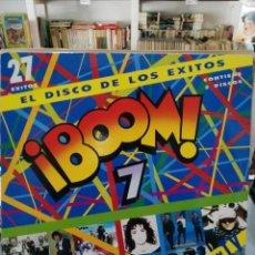 Discos de vinilo: ¡BOOM! 7 - EL DISCO DE LOS ÉXITOS, 27 ÉXITOS - DOBLE LP. DEL SELLO EMI DE 1991. Lote 97798667