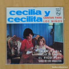 Discos de vinilo: CECILIA Y CECILITA - CANTAN PARA LOS NIÑOS - EP. Lote 97804027