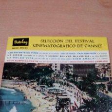 Discos de vinilo: SELECCION DEL FESTIVAL CINEMATOGRAFICO DE CANNES - BUEN ESTADO -VER FOTOS. Lote 97807531