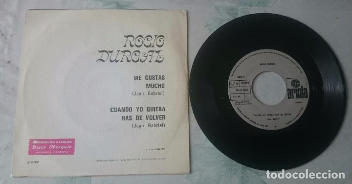 Discos de vinilo: Rocio Durcal: Me gustas mucho / Cuando yo quiera has de volver (Ariola 1979) - Foto 2 - 97818879