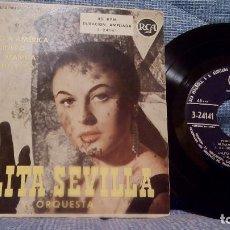 Discos de vinilo: LOLITA SEVILLA - MI SALUDO A AMERICA + 3 - (EP DE 4 CANCIONES) RCA 1959. Lote 97819071