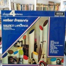 Discos de vinilo - Maurice Larcange, Acordeon - Roland Shaw Orquesta y Coros - Sabor Francés - LP. del sello Decca 1968 - 97836367