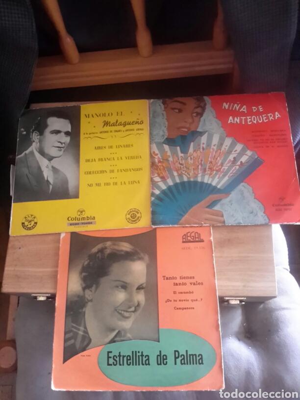 TRES MAXI SINGEL DE LOS AÑOS 50 (Música - Discos de Vinilo - Maxi Singles - Flamenco, Canción española y Cuplé)