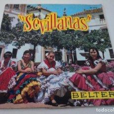 Discos de vinilo: SINGLE CASA BELTER J. L. CAMPOY LOS PALMEÑOS ROSARITO GARCIA Y MANOLO BULERIAS. Lote 97847267