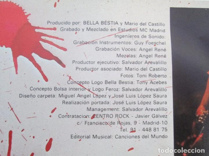 Discos de vinilo: BELLA BESTIA. LP VINILO. EDITADO POR RECORD 83. 1984. VER FOTOGRAFIAS ADJUNTAS - Foto 4 - 97847979