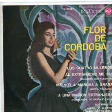 Discos de vinilo: FLOR DE CORDOBA / AL EXTRANJERO ME FUI + 3 (EP 1963). Lote 103916066