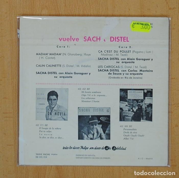 Discos de vinilo: SACHA DISTEL - MADAM MADAM + 3 - EP - Foto 2 - 97859223