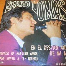 Dischi in vinile: BRUNO LOMAS - EN EL DESVAN ANTIGUO DE MI ABUELA/ QUIERO/ SIEMPRE JUNTO A TI +1 - EP 1967. Lote 97861015
