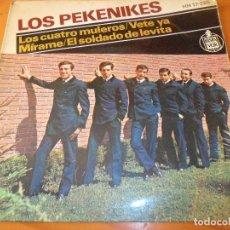 Discos de vinilo: LOS PEKENIKES - LOS CUATRO MULEROS/ VETE YA/ MIRAME +1 - EP 1964. Lote 97861467