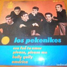 Discos de vinilo: LOS PEKENIKES - PLEASE PLEASE ME/ HULLY GULLY/ AMERICA/ ESO FUE TU AMOR - EP 1964. Lote 97861719