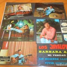Discos de vinilo: LOS JAVALOYAS - BARBARA ANN/ MI VERDAD/ UN HOMBRE LLORARA +1 - EP 1966. Lote 97862239