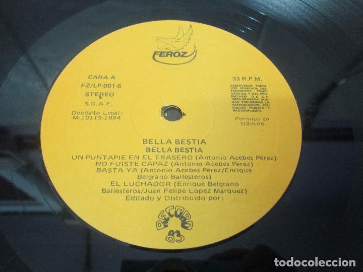 Discos de vinilo: BELLA BESTIA. LP VINILO. EDITADO POR RECORD 83. 1984. VER FOTOGRAFIAS ADJUNTAS - Foto 15 - 97847979