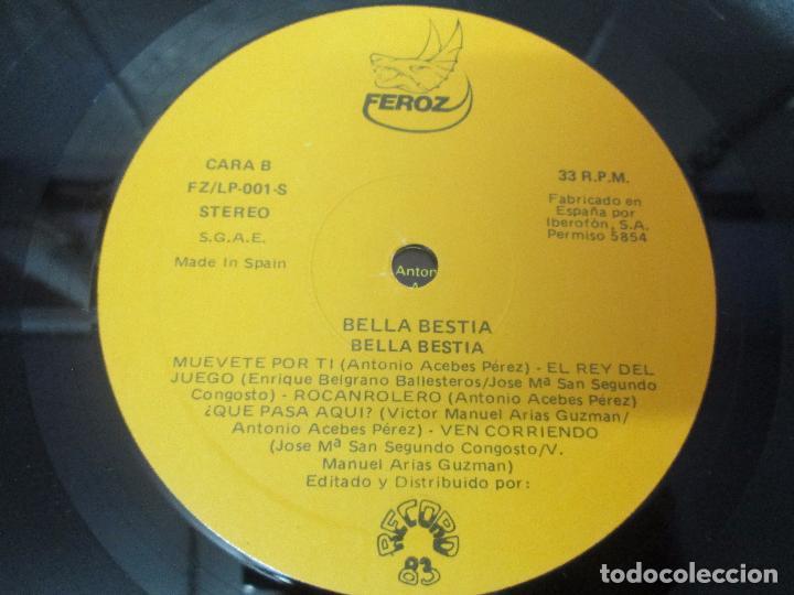 Discos de vinilo: BELLA BESTIA. LP VINILO. EDITADO POR RECORD 83. 1984. VER FOTOGRAFIAS ADJUNTAS - Foto 18 - 97847979