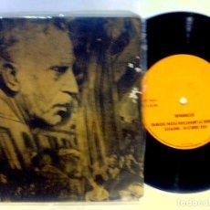 Discos de vinilo: VINILO SINGLE - ELS SEGADORS - DISCURSO DE FRANCESC MACIA PROCLAMACION DE REPUBLICA CATALANA 1932. Lote 125718030