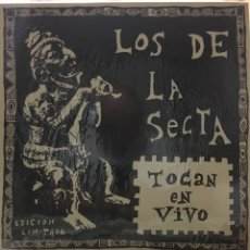 Discos de vinilo: LA SECTA-LOS DE LA SECTA TOCAN EN VIVO-1990-EDICION LIMITADA DE 500 COPIAS(ESTA LA 42)-CON POSTER. Lote 97883810