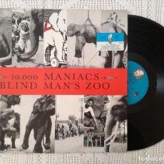 Disques de vinyle: 10.000 MANIACS, BLIND MAN'S ZOO (ELEKTRA) LP ALEMANIA - ENCARTE + LETRAS. Lote 97885679