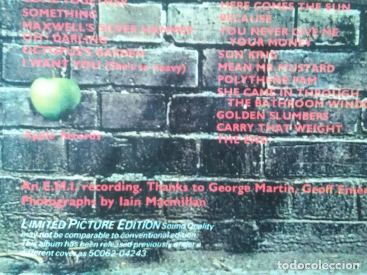 Discos de vinilo: The Beatles-Abbey Road (lp.Apple.1979) reedicion en picture disc clasico de 1969. Lennon-McCartney - Foto 3 - 174145289