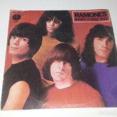 Discos de vinilo: ANTIGUO DISCO SINGLE - RAMONES - BABY , I LOVE YOU - HISPAVOX AÑO 1980. Lote 97909835