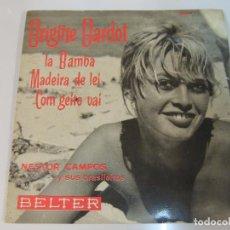 Discos de vinilo: NESTOR CAMPOS Y SUS BRASILEIROS - DISCO VINILO EP - BRIGITTE BARDOT COM GEITO VAI BELTER 1961. Lote 97917811
