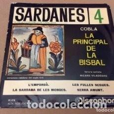 Discos de vinilo: LA PRINCIPAL DE LA BISBAL - SARDANES 4 - 7 SINGLE - AÑO 1969. Lote 97923115