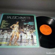 Discos de vinilo: 918- FAUSTO PAPETTI - SAX- DISCO VINILO LP - PORT VG + DISCO VG ++. Lote 97924155