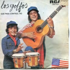 Discos de vinilo: LOS GOLFOS / QUE PASA CONTIGO, TIO / POBRECITA DOÑA ENGRACIA (SINGLE PROMO 1976). Lote 97940651