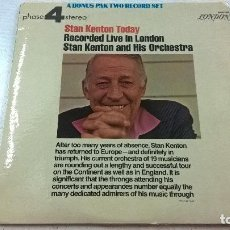 Discos de vinilo: STAN KENTON TODAY-RECORDED LIVE IN LONDON-2 LP-LONDOM-BP 44179-80-N-MADE IN USA-AÑO 1972-N. Lote 97941671