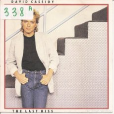 Discos de vinilo: DAVID CASSIDY - THE LAST KISS / THE LETTER (SINGLE ESPAÑOL, ARISTA RECORDS 1985). Lote 97941735