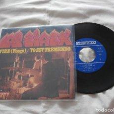 Discos de vinilo: LOS SIREX SG FIRE (FUEGO) / YO SOY TREMENDO (1968) BUENA ESTADO . Lote 97953239