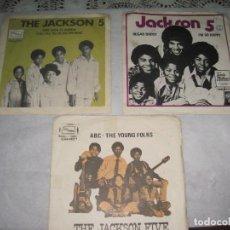 Discos de vinilo: MICHAEL JACKSON AND JACKSON 5- LOTE DE 3 SINGLES SUECIA-SOLO PORTADAS. Lote 97966859