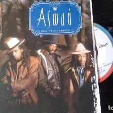 Discos de vinilo: SINGLE (VINILO) DE ASWAD AÑOS 80. Lote 97981091