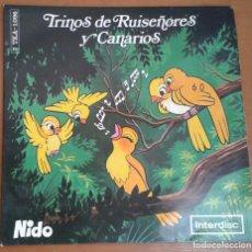 Discos de vinilo: DISCO CANTOS DE PÁJAROS ALIMENTACIÓN PÁJAROS NIDO. Lote 97987767