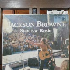 Discos de vinilo: JACKSON BROWNE - STAY / ROSIE - SINGLE DEL SELLO ASYLUM RECORDS DE 1977. Lote 97987787