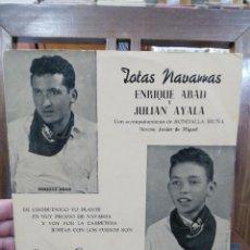 Discos de vinilo: JOTAS NAVARRAS - ENRIQUE ABAD Y JULIAN AYALA CON RONDALLA IRUÑA - EP. DEL SELLO COLUMBIA DE . Lote 97988315