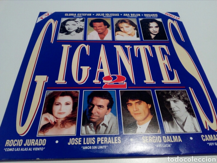 LP. GIGANTES 2. DOBLE DISCO. EPIC 1993. (Música - Discos - LP Vinilo - Solistas Españoles de los 70 a la actualidad)