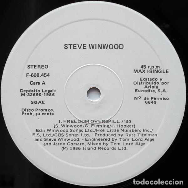 Discos de vinilo: STEVE WINWOOD - Freedom Overspill - Foto 3 - 97995679