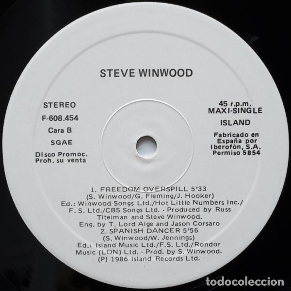 Discos de vinilo: STEVE WINWOOD - Freedom Overspill - Foto 4 - 97995679