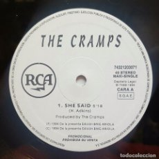 Discos de vinilo: THE CRAMPS - SHE SAID RCA PROMO MAXISINGLE 1994 - SUPER RARE ONLY SPANISH PRESS!!. Lote 98000031