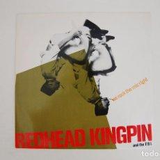 Discos de vinilo: LP. VINILO - WE ROCK THE MIC RIGHT - REDHEAD KINGPIN AND THE FBI - TEN RECORDS 1990. Lote 98001983