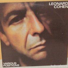 Discos de vinilo: LEONARD COHEN - VARIOUS POSITIONS C B S - 1984. Lote 98005963