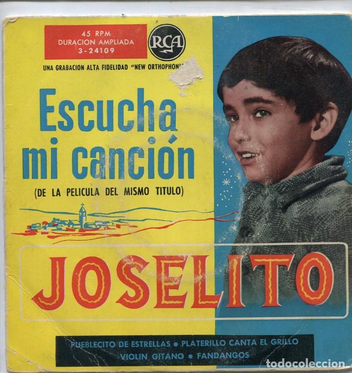 Joselito Canciones De La Pelicula Escucha Mi C Comprar Discos Ep Vinilos Música Solistas Españoles De Los 50 Y 60 En Todocoleccion 98006835