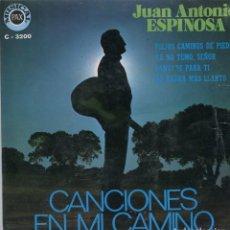 Discos de vinilo: JUAN ANTONIO ESPINOSA / VIEJOS CAMINOS DE PIEDRA + 3 (EP 1971). Lote 98007731