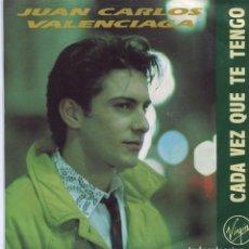Disques de vinyle: JUAN CARLOS VALENCIAGA / CADA VEZ QUE TE TENGO / UN DIA DE INVIIERNO (SINGLE PROMO 1990). Lote 98009323