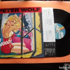 Discos de vinilo: PETER WOLF UP TO NO GOOD LP GERMANY 1990 PDELUXE. Lote 98009503