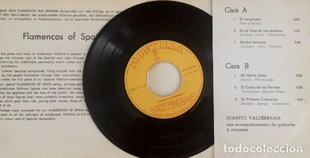 Discos de vinilo: JUANITO VALDERRAMA - FLAMENCOS DE ESPAÑA - 1965 - EP DE 6 CANCIONES - Foto 2 - 98013463