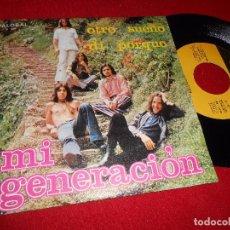 Discos de vinilo: MI GENERACION OTRO SUEÑO/DI PORQUE 7 SINGLE 1972 PALOBAL. Lote 199423196