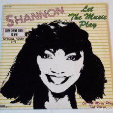Discos de vinilo: SHANNON - LET THE MUSIC PLAY (SPECIAL-REMIX) - 1983. Lote 98027595