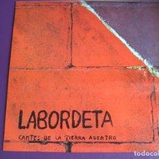 Discos de vinilo: LABORDETA LP FONOMUSIC 1986 - CANTES DE LA TIERRA ADENTRO - FOLK ARAGON. Lote 98028959