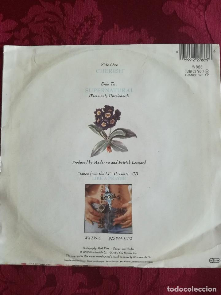 Discos de vinilo: SINGLE MADONNA VINILO CHERISH - Foto 2 - 98046999