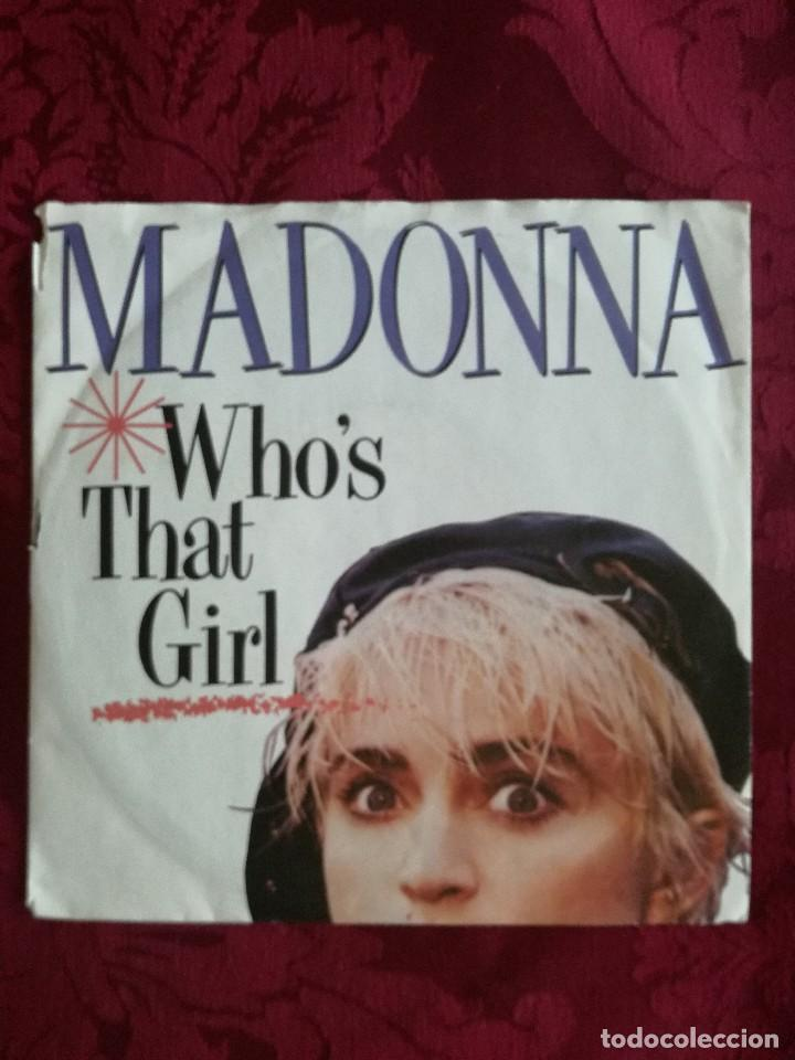 SINGLE MADONNA VINILO WHO,S THAT GIRL (Música - Discos de Vinilo - Maxi Singles - Pop - Rock Extranjero de los 90 a la actualidad)